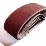 10pièces de tissus Bandes abrasives pour ponceuse à bande 75x 533–Grain 80/Papier abrasif/bandes abrasives de la marque S&S-Shop image 2 produit