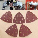 100 Disques Abrasif Disques ponçage triangle 90*90mm Papier émeri ponceuse papier verre grain 40 60 80 120 180 de la marque Anladia image 1 produit
