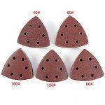 100 Disques Abrasif Disques ponçage triangle 90*90mm Papier émeri ponceuse papier verre grain 40 60 80 120 180 de la marque Anladia image 3 produit