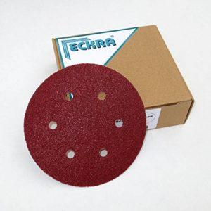 100 disques abrasifs 150 mm 6 trous en grains différents de la marque ECKRA image 0 produit