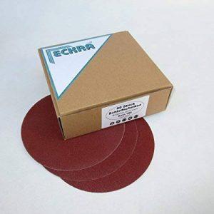 100 disques abrasifs 150 mm avec fermeture scratch sans trou en diverses grains de la marque ECKRA image 0 produit