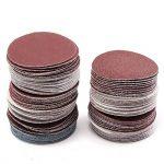 100 pièces 50mm 2 pouces Papier de Ponçage Abrasifs Rond Papier de Verre Bricolage Accessoires pour Ponceuses Abrasive 60/100/120/150180/240/320/800/1200/2000 de la marque Amasawa image 1 produit