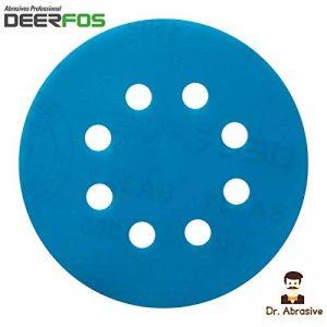 125mm 12,7cm disque de ponçage humide et sec papier abrasif imperméable Coussinets (302) film Deerfos Velcro 8trous de la marque Deerfos image 0 produit