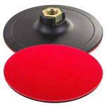 125mm 12,7cm polissage Pad Disc Plateau de ponçage pour perceuse Hook & Loop (327) Pad d'angle + Fixation + 10disques abrasifs de la marque Germa Flex image 1 produit