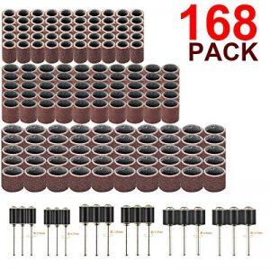 168 Stück Drum-Drum-Kit mit Gratis-Box, einschließlich 150 Stück Trommel-Trommelband-Schleifhülsen (1/4 3/8 1/2 Zoll) und 18 Stück Trommel-Chucks (1/4 3/8 1/2 Zoll) für Dremel-Drehwerkzeug de la marque CMYKZONE image 0 produit
