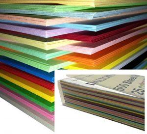250 feuilles Papier Cartonné / Carte / Carton A4 160gm de couleur - Assortiment de 25 couleurs de la marque DALTON-MANOR image 0 produit