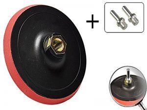 3–Pièces Velcro Meule assiette 180mm + 2Adaptateurs pour perceuse avec filetage M14 de la marque MS-Warenvertrieb image 0 produit