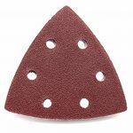 300 pièces de ponçage Triangles 93 x 93 x 93 mm Grain par 50 x 40/60/80/120/180/240 pour ponceuse Delta 6 trous de la marque FD-Workstuff image 4 produit