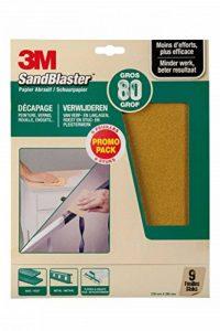 3M Sandblaster Lot de 9 Feuilles Abrasives pour Décapage P80 de la marque Command image 0 produit