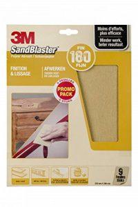3M Sandblaster Lot de 9 Feuilles Abrasives pour Finition P180 de la marque Command image 0 produit