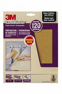 3M Sandblaster Lot de 9 Feuilles Abrasives pour Prépration P120 de la marque Command image 0 produit