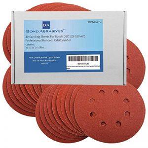 40Bond produits abrasifs Disques de ponçage pour Bosch GEX 125–150AVE Professional ponceuse excentrique 125mm Grain 180(fin) de la marque Bond Abrasives image 0 produit