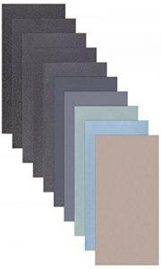 5feuilles de papier papier abrasif Assortiment 210x 110mm P5000P3000P2000P1000P800Sable sec et humide de la marque StickandShine image 0 produit