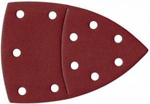 50BL. K180Velcro Prio 11trous Papier abrasif papier abrasif delta triangulaire séparable de disques abrasifs 105x 152mm de la marque TD-Warenhandel image 0 produit