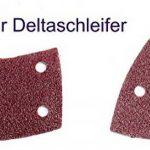 50BL. K180Velcro Prio 11trous Papier abrasif papier abrasif delta triangulaire séparable de disques abrasifs 105x 152mm de la marque TD-Warenhandel image 1 produit
