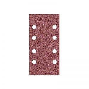 50 Feuilles abrasifs auto-agrippantes MioTools/papier abrasif pour ponceuse vibrante - 180x93 mm - grain 100 – 8 trous de la marque MioTools image 0 produit