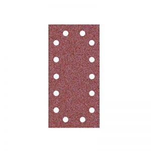 50 Feuilles abrasifs auto-agrippantes MioTools/papier abrasif pour ponceuse vibrante - 230x115 mm - grain 150 – 14 trous de la marque MioTools image 0 produit