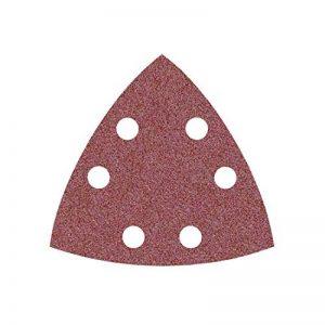 50 Feuilles abrasifs delta MioTools/papier abrasif pour ponceuse triangulaire - 93 mm - grain 40 – 6 trous de la marque MioTools image 0 produit