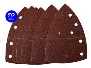 50 feuilles de ponçage 105 x 152 mm Grain 40 pour ponceuse multifonction Prio de la marque Goodway image 0 produit