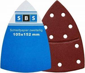 50 Pièce SBS feuilles de ponçage & fermeture Velcro 105x152 mm Grain 180 Prio de la marque SBS image 0 produit