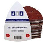 -60 x? SBS Velcro feuilles abrasives 105 x 152 MM grain 40/10 x grain 60/80/120/180/240 pour Bosch Prio, chaque Ventaro de la marque SBS-Schlößer-Baustoffe image 1 produit