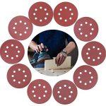 80pcs Disque de Ponçage, Disques Abrasifs 125mm Grain 8 Trous Ronds Papier Abrasif, Feuilles de Ponçage Ponceuse Papier 40/60/80/100/120/150/180/240/320/400 pour Poncer/Polir/Dérouiller de la marque Herefun image 4 produit
