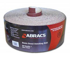 Abracs 115mm de large Rouleau de papier abrasif Choix de grain de la marque ABRACS image 0 produit