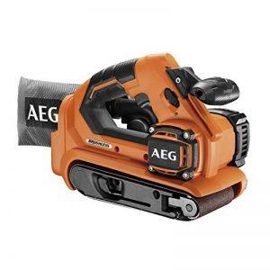 AEG BHBS18-75BL-0 Ponceuse à bande sans fil 18 V avec système d'aspiration de la poussière Longueur de la bande 457 mm Largeur de la meule : 75 mm de la marque AEG image 0 produit