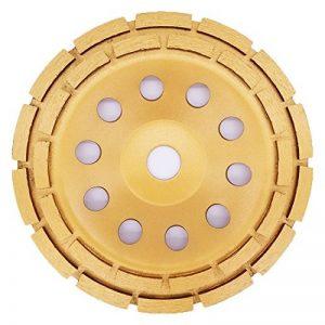 APLUS Disque Diamant à Meuler poncer le Béton assiette pour meuleuse pour Béton, Granit, Pierre et Maçonnerie brique surfaçage façonnage. 2 rangées. (180mm) de la marque APlus image 0 produit
