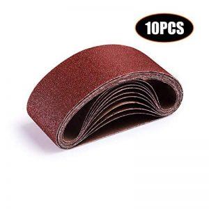 Bande Abrasive, Ceinture Abrasive, Tacklife Lot de 10PCS, 75 X 457mm pour Ponceuse à Bande 2 x 40/60 / 80/100 / 120   ASB01A de la marque TACKLIFE image 0 produit