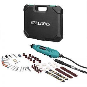 BEAUDENS Outils Rotatifs Multi-usage 100 Accessoires, Avancé Kit Outil Rotatif Électrique Multifonction à 6 Vitesses de Rotation avec Mallette Portable pour Découper/Meuler/Polir/Percer/Sculpter de la marque BEAUDENS image 0 produit