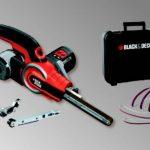 BLACK+DECKER KA902EK-QS Lime electrique filaire - 400 W - 455 mm x 13 mm - 900 à 1400 tours/min - Variateur de vitesse - Interrupteur anti-poussières - 3 bras et 6 bandes abrasives de la marque Black-Decker image 2 produit