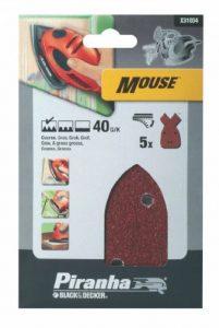 Black + Decker X31034 Papier abrasif pour ponceuse Mouse Lot de 5 40G (Import Grande Bretagne) de la marque Piranha image 0 produit