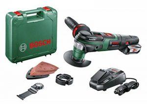 Bosch 0603104001 AdvancedMulti 18 Outil multifonction sans fil technologie Syneon 2,5Ah, 18 V, Vert de la marque Bosch image 0 produit