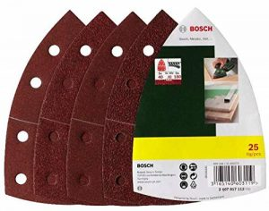 Bosch 2607017112 Set de 25 abrasifs pour Ponceuse multi 102 x 62 x 93 mm Grains 40/80/120/180 de la marque Bosch image 0 produit