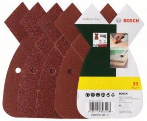 Bosch 2607017113 Set de 25 abrasifs pour Ponceuse Mouse Grains 80/120/180 de la marque Bosch image 0 produit