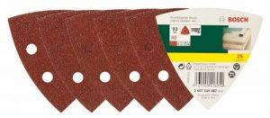 Bosch 2607019487 Lot de feuilles abrasives pour Ponceuse Delta Grain 40 25 pièces de la marque Bosch image 0 produit