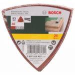 Bosch 2607019487 Lot de feuilles abrasives pour Ponceuse Delta Grain 40 25 pièces de la marque Bosch image 1 produit