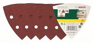 Bosch 2607019489 Lot de feuilles abrasives pour Ponceuse 25 ABRASIFS DELTA 93 GRAIN 80 . de la marque Bosch image 0 produit