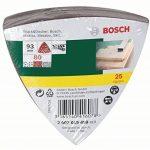 Bosch 2607019489 Lot de feuilles abrasives pour Ponceuse 25 ABRASIFS DELTA 93 GRAIN 80 . de la marque Bosch image 1 produit