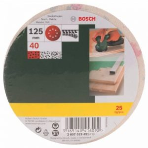 Bosch 2607019491 Lot de feuilles abrasives pour Ponceuse excentrique Grain 40/125 mm 25 pièces de la marque Bosch image 0 produit