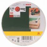 Bosch 2607019492 Lot de feuilles abrasives pour Ponceuse excentrique Grain 60/125 mm 25 pièces de la marque Bosch image 1 produit