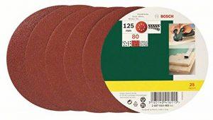 Bosch 2607019493 Lot de feuilles abrasives pour Ponceuse excentrique Grain 80/125 mm 25 pièces de la marque Bosch image 0 produit