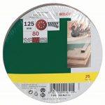 Bosch 2607019493 Lot de feuilles abrasives pour Ponceuse excentrique Grain 80/125 mm 25 pièces de la marque Bosch image 1 produit