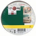 Bosch 2607019494 Lot de feuilles abrasives pour Ponceuse excentrique Grain 120/125 mm 25 pièces de la marque Bosch image 1 produit