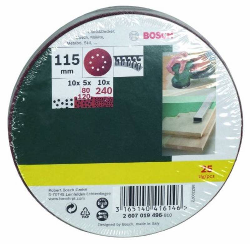 Lot de 100 feuilles abrasives 105 x 152 mm Grain 120 pour Ponceuse multisander Bosch/® Prio/® Ventaro/®