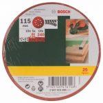 Bosch 2607019496 Lot de feuilles abrasives pour Ponceuse excentrique Grain 80-140 115 mm 25 pièces de la marque Bosch image 1 produit