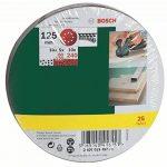 Bosch 2607019497 Lot de feuilles abrasives pour Ponceuse excentrique Grain 80 - 120 125 mm 25 pièces de la marque Bosch image 1 produit
