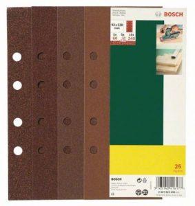 Bosch 2607019499 Feuilles abrasives pour Ponceuse vibrante Grain 60-240 93 x 230 mm Lot de 25 de la marque Bosch image 0 produit