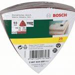 Bosch 2607019500 Lot de feuilles abrasives pour Ponceuse Delta Grain 60-240 25 pièces de la marque Bosch image 1 produit